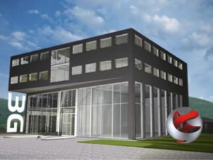 """Die Marotech GmbH baut derzeit das """"3G Europäische Kompetenzzentrum für Ladungssicherung"""" in Fulda und stellt das Projekt bei der transport logistic in München vor"""