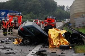 """""""Die Unfallakte"""". VOX analysiert einen Verkehrsunfall auf der A 8 in Nähe des Autobahnkreuzes Stuttgart"""