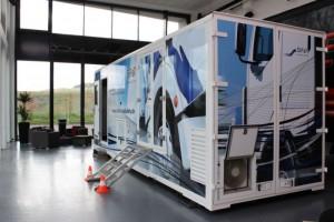 """Fahrsimulator vom Typ """"DriveSim mobile"""" von SiFat gilt als das europaweit modernste Gerät seiner Art"""