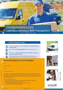 Fahreranweisung mit abziehbarer Bestätigung über erfolgte Unterweisungspflichten