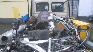 Einer der angehaltenen Kleintransporter (Foto: Polizei Osthessen)