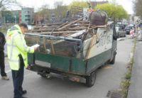 Ein Beispiel für mangelhafte Ladungssicherung (Foto: Archiv)