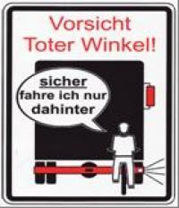"""Mit diesem Flyer unterstützte das Polizeipräsidium Münster seine Aufklärungsarbeit in Sachen """"Toter Winkel"""""""